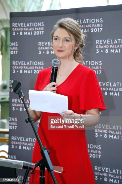 GrandeDuchesse Heritiere Stephanie De Luxembourg presents the 'Revelations' Fair at Balcon d'Honneur du Grand Palais on May 5 2017 in Paris France