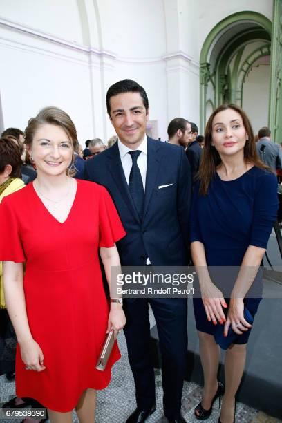 GrandeDuchesse Heritiere Stephanie De Luxembourg Prince Edouard de Ligne La Tremoille and Princess Isabella de Ligne La Tremoille attend the...