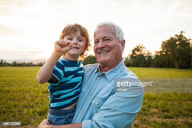 Grandfather and his grandson