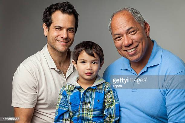 Grandfather, son and grandson, portrait