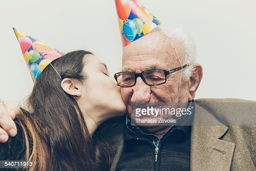 Grandfather with his granddaughter