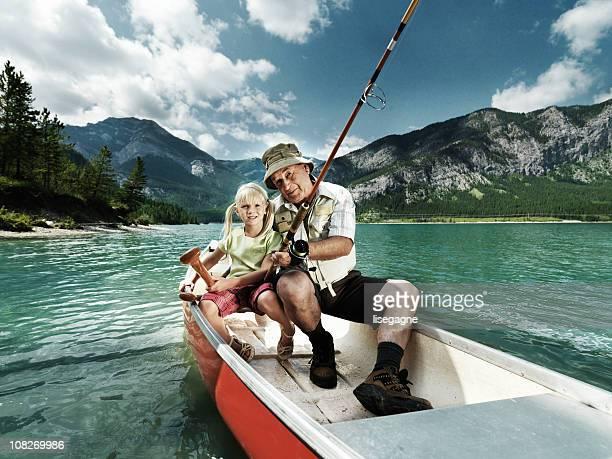 Grand-père et petite fille