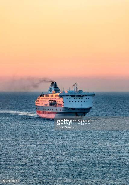 Grandi Navi Veloci ferry at sea on the GenoaBarcelonaTangier line