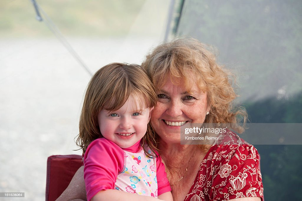 Grandma and granddaughter : Stock Photo