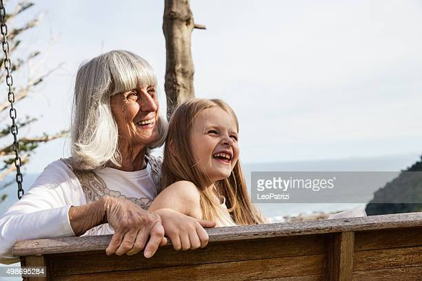 GrandMa and granddaughter sweet candid moment