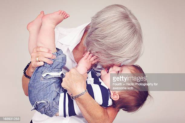 Grandma hugging child