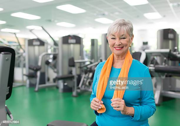 Grandma is at the gym