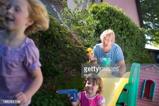 Grandma joining in the fun