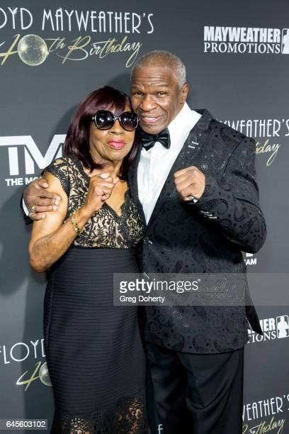 Grandma Mayweather and Floyd Mayweather Sr attend Floyd Mayweather's 40th Birthday Celebration on February 25 2017 in Los Angeles California
