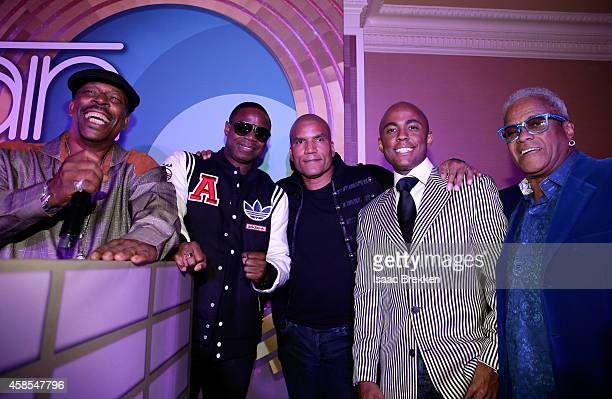 Grandmaster Caz Recording artist Doug E Fresh CENTRIC Executive Vice President and General Manager Paxton Baker Farrah Gray and George Daniels attend...