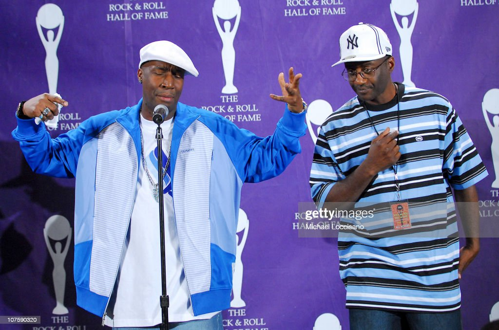 Grandmaster Flash, inductee (left) during 22nd Annual Rock and Roll Hall of Fame Induction Ceremony - Press Room at Waldorf Astoria in New York City, New York, United States.