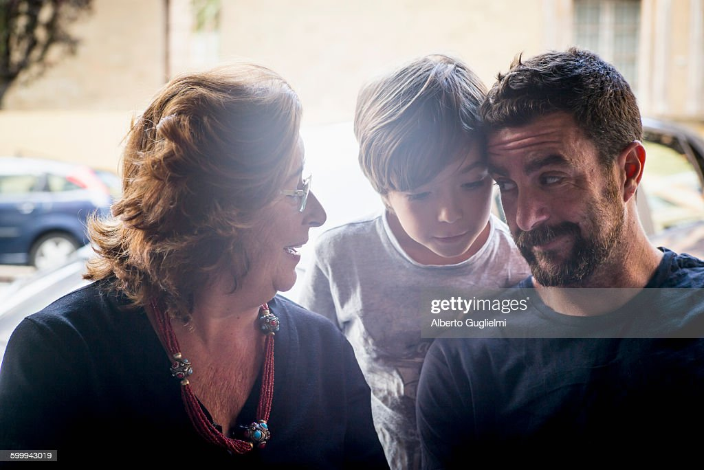 Grandmother, Father and son : Stock Photo