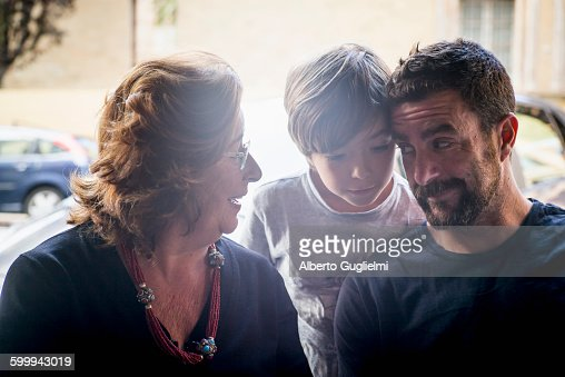 Grandmother, Father and son