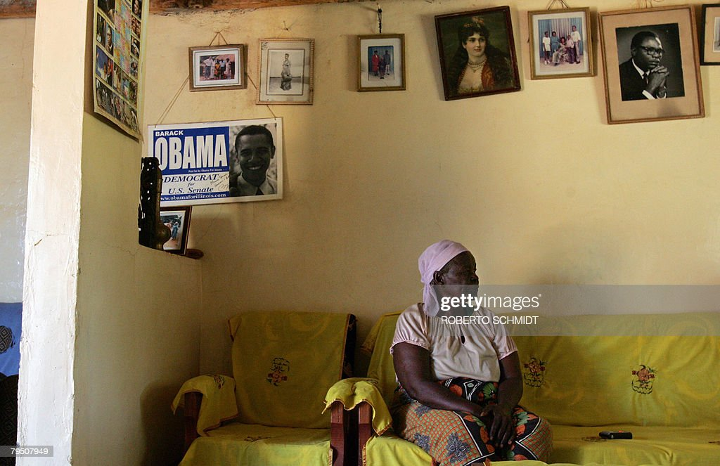 Grandmother of US Presidential candidate and US Senator Barrack Obama, <a gi-track='captionPersonalityLinkClicked' href=/galleries/search?phrase=Sarah+Obama&family=editorial&specificpeople=2501809 ng-click='$event.stopPropagation()'>Sarah Obama</a> Onyango sits in her home in the Kogelo Community in western Kenya on February 4, 2008. As they wave machetes with gleaming blades, rioters in Kenya's sprawling slums say they have two things on their minds: protesting Kenya's presidential election and <a gi-track='captionPersonalityLinkClicked' href=/galleries/search?phrase=Barack+Obama&family=editorial&specificpeople=203260 ng-click='$event.stopPropagation()'>Barack Obama</a>. AFP PHOTO / Roberto SCHMIDT