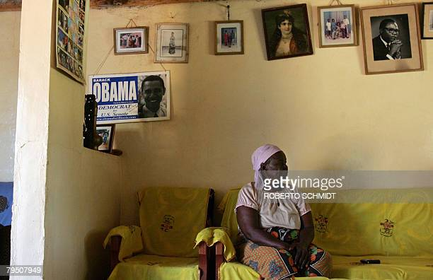 Grandmother of US Presidential candidate and US Senator Barrack Obama Sarah Obama Onyango sits in her home in the Kogelo Community in western Kenya...