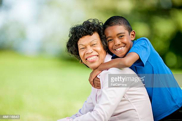 Grandmother Spending Time with Her Grandson