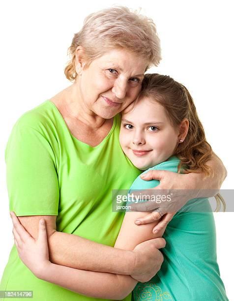 Abuela con grandsister