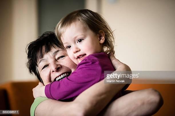 Grandmother with her grandchild