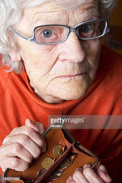Grandmother's empty purse