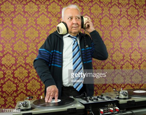 grandpa dj : Stock Photo