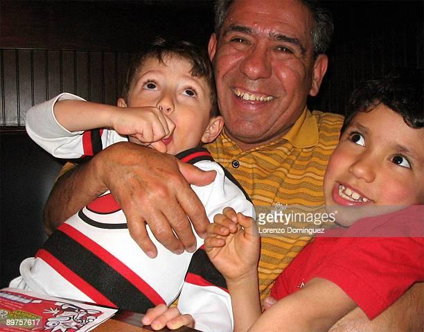 Grandpa having fun with granchildren