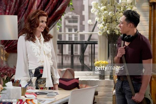 WILL GRACE 'Grandpa Jack' Episode 105 Pictured Debra Messing as Grace Adler Anthony Ramos as Tony