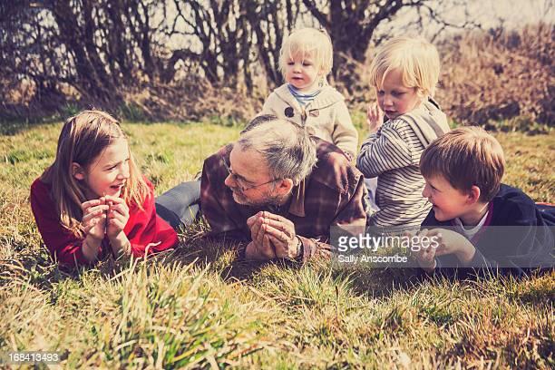 Grandpa with his Grandchildren