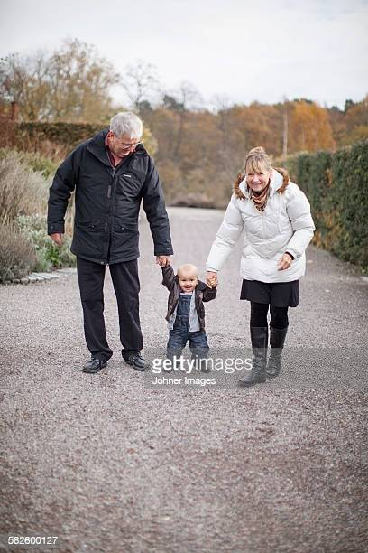Grandparents with their grandson