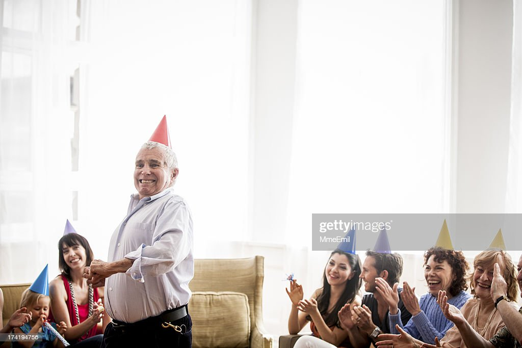 Grandpa's Happy Dance : Stock Photo