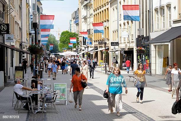 GrandRue in the inner city of Luxembourg