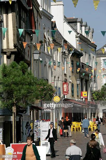 Grand'rue pedestrianized street in downtown Redon Sightseeing tour of Brittany