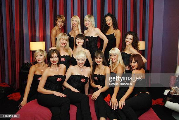 MGM Grand's Crazy Horse Paris dancers celebrate their pictorial in the June issue of Playboy Magazine at The Palms Casino Resort on May 13 2008 in...