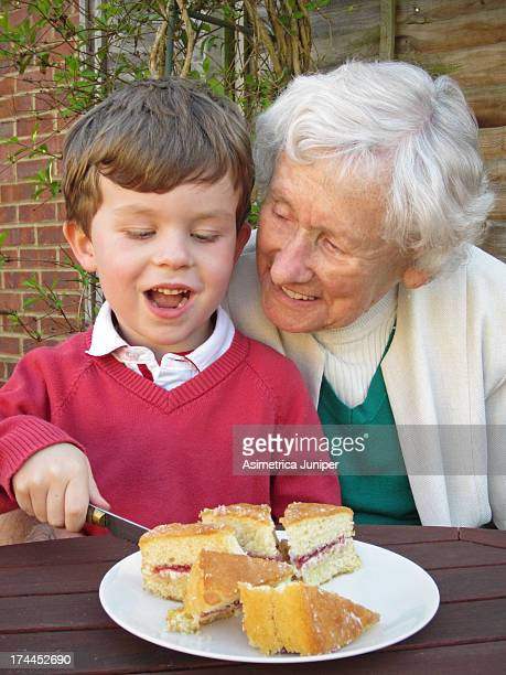 Grandson, Grandmother and Sponge Cake