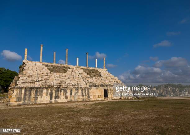 Grandstand at the hippodrome in al Bass site South Governorate Tyre Lebanon on May 3 2017 in Tyre Lebanon