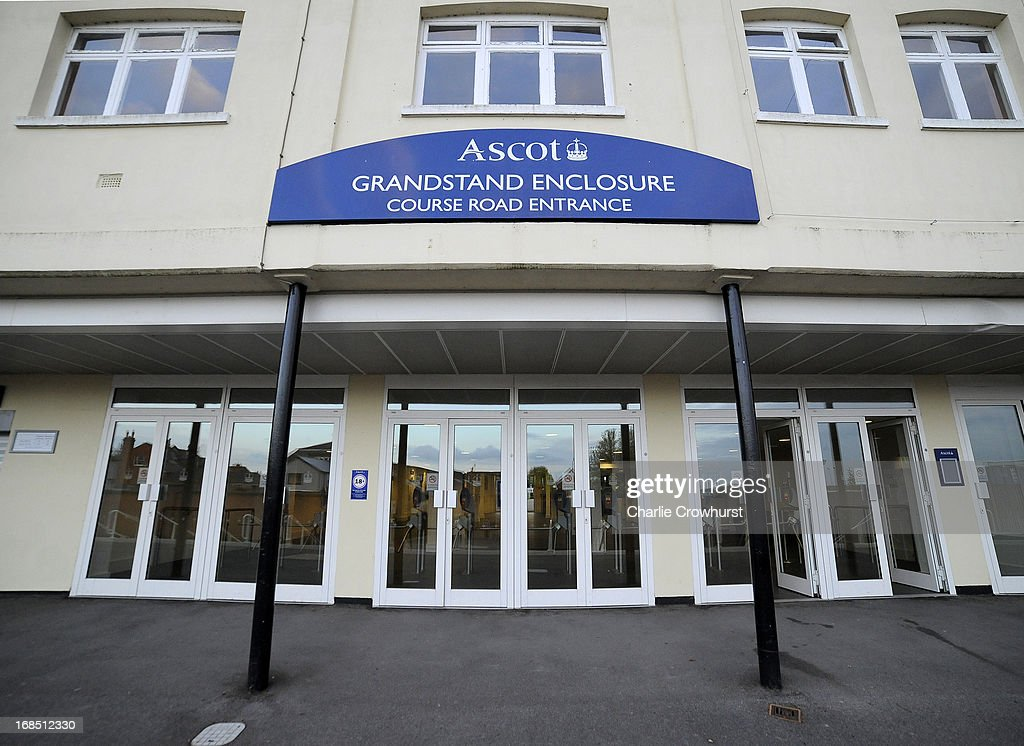 Grandstand Entrance at Ascot racecourse on May 10, 2013 in Ascot, England.