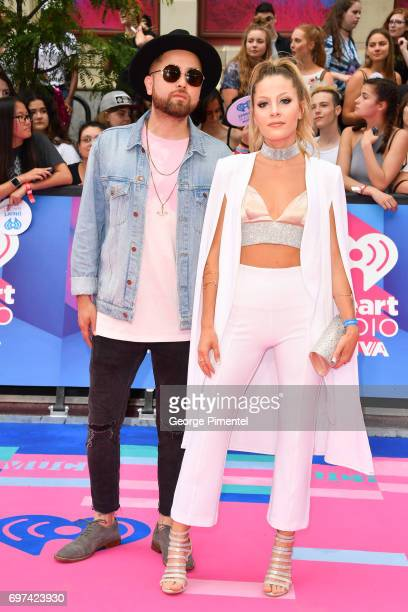 Grandtheft and Delaney Jane arrive at the 2017 iHeartRADIO MuchMusic Video Awards at MuchMusic HQ on June 18 2017 in Toronto Canada