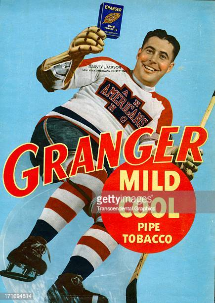 Granger Tobacco employs Harvey Jackson for this poster from around 1950 produced in New York CIty