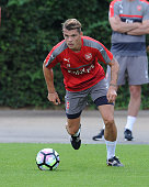 Granit Xhaka of Arsenal during a 1st team training session at London Colney on July 23 2016 in St Albans England
