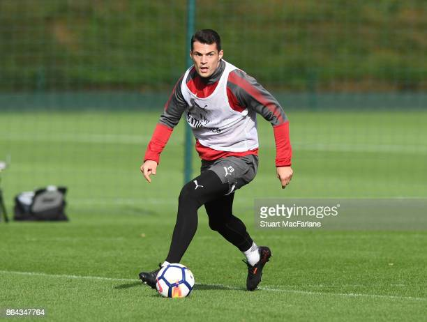 Granit Xhaka of Arsenal during a training session at London Colney on October 21 2017 in St Albans England
