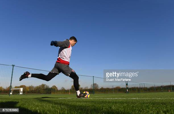 Granit Xhaka of Arsenal during a training session at London Colney on November 17 2017 in St Albans England