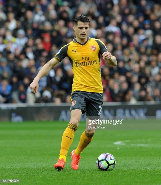 Granit Xhaka of Arsenal during the Premier League match between West Bromwich Albion and Arsenal at The Hawthorns on March 18 2017 in West Bromwich...
