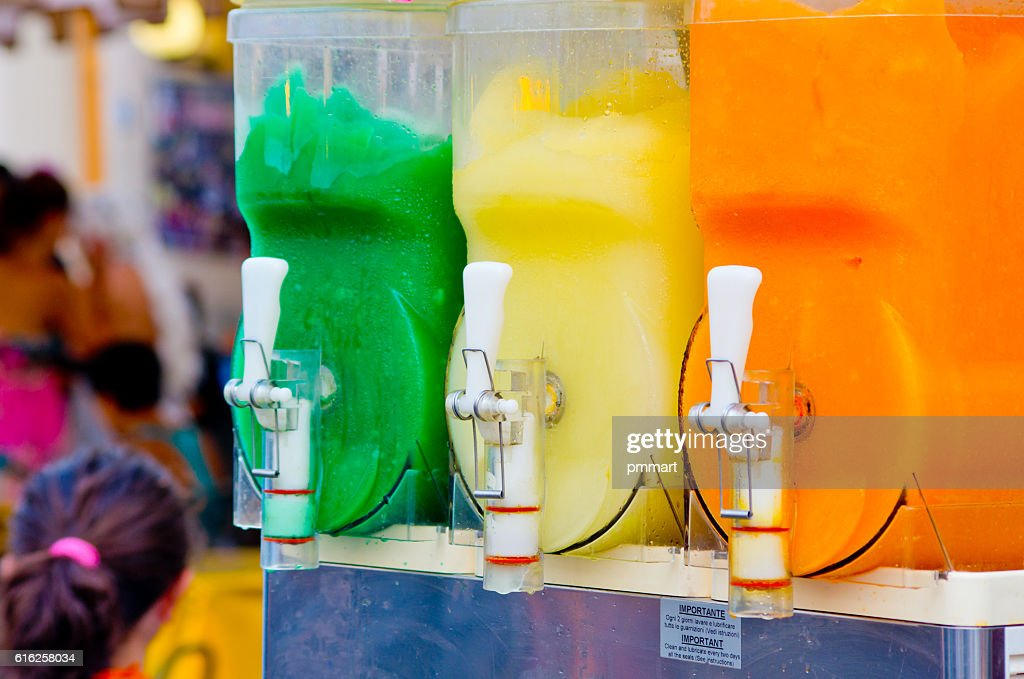granita machine, refreshment for the thirst of the hot months : Foto de stock
