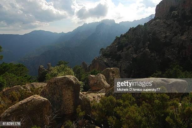 Granite boulders at Bavella
