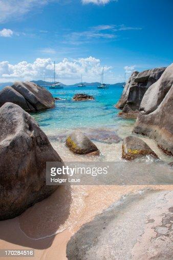 Granite boulders at The Baths