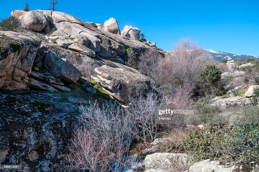 Rocas de granito en el Hueco de San Blas : Foto de stock