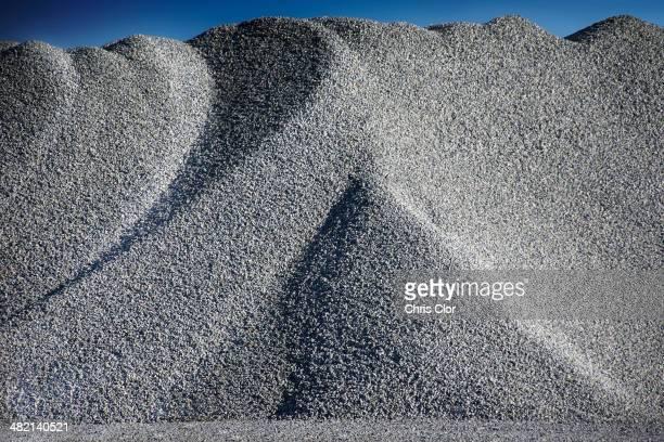 Granite heap in quarry
