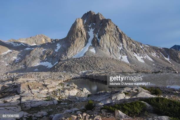 Granite highb altitude barren landscape in the High Sierra