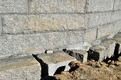 Granite wall foundation.
