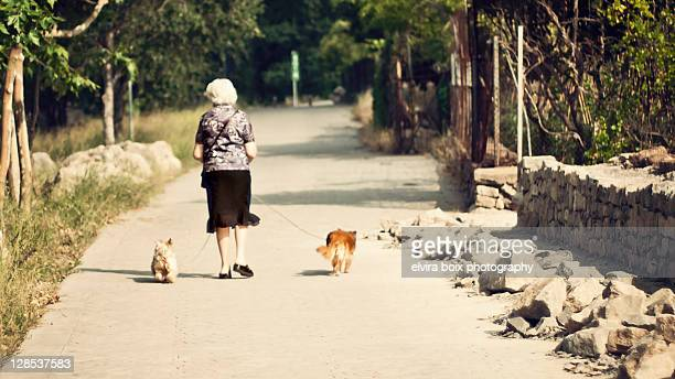 Granny and dogs