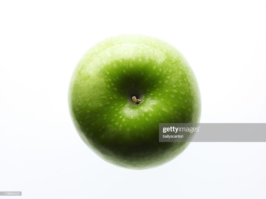 Granny Smith Apple On A White Background.